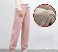 Harem Outdoor Pants Thicken Fleece for Winter Breathable Lined Women Sport