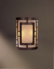 2-Light Bronze Sconce Mission Craftsman Cage Wall Light Bathroom Home Hall Lobby