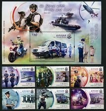 Hongkong 2019 Unsere Polizei Hubschrauber Boot Motorrad Hund Postfrisch MNH