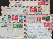 OPC Lot of 6 Italy to USA Europa Air Letters