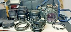 KONICA MINOLTA 7000 AF camera. Very 1980s. Flash and Lenses included