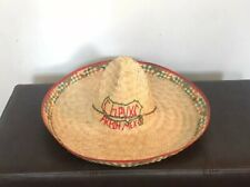 Chevy's Mexican Restaurant Straw Sombrero Party Hat Authentic