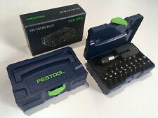 FESTOOL Bit-Set+ CENTROTEC Bithalter BHS 65 CE MICRO SYSTAINER T-LOC BLUE 204540