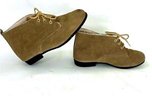 Vtg Daniel Green Outdorables Ankle boot Taupe Beige Suede Leather Sherpa Lined 8
