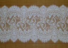 3 Meters Off White French Style Chantilly Eyelash Double Edge Lace JM2