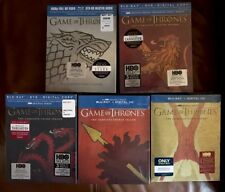 GAME THRONES SEASON 1,2,3,4,5 BLU-RAY COLLECTORS COVER SIGIL SETS BEST BUY EXCL.