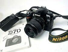 Nikon D70 6.1MP DSLR Camera AF-S Nikkor 18-55mm Lens, Battery, Charger, & Manual