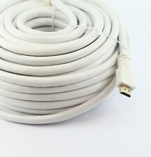 20m LONG HDMI Cable High Speed + Ethernet FULL HD 4K 3D TV ARC GOLD WHITE