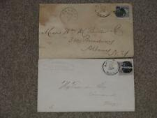Postal History covers- Scott# 114 (2), 1 has Carrier Cancel, stamp crease Item C
