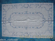 90 X 60 CM PLASTIC WHITE LACE TABLECLOTHS PLACEMAT DOILIES  RECTANGLE