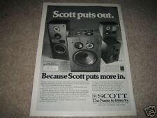 Scott Pro 100B,188t,196w Speaker Ad from 1978,rare!