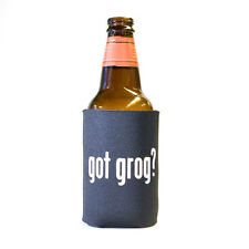Got Grog? Drinking Humor Pirate Beer and Pop Can Koozie Koolie Cooler Insulator