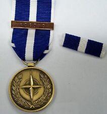 MEDAGLIA MISSIONE OPERAZIONE DI PACE NATO IN KOSOVO CON NASTRINO DA PETTO