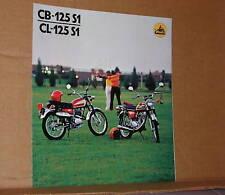 1974 Honda CB125 S1 / CL125 S1 Motorcycle Brochure/Poster - Literature