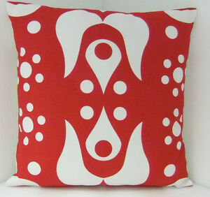 CUSHION COVERS NEW MADE FROM IKEA CHRISTMAS RED  WHITE HEARTS FABRIC