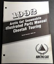 1992 Arctic Cat Cheetah Touring Snowmobile Parts Manual P/N 2254-745 (121)