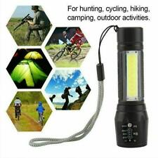 LED Torch USB Rechargeable Flashlight Zoomable Camping Hiking Lamp Small*HOT