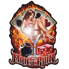 Pin up Man's ruina aufleber sticker rockabilly rythm retro us cars v8 Hot Rod