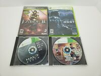 Lot Of (4)- XBOX 360 Games: Halo Reach/GTA V Disc 2/Fable 2/Halo 3 ODST