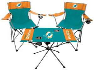 Miami Dolphins  3 Piece Tailgate Kit - 2 Chairs - 1 Table