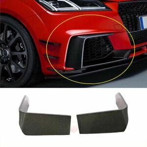 Fit for Audi TT RS 16-18 Carbon Fiber Front Fog Light Cover Splitter Fins Trim