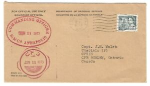 1973 Canada - FMO Halifax, N.S. Commanding Officer HMCS Annapolis to CFB Borden