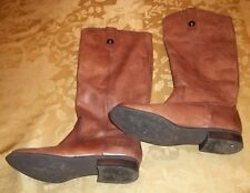 Womens CARLOS SANTANA~BROWN LEATHER BOOTS~size 6~TALL Shoes~Perfect