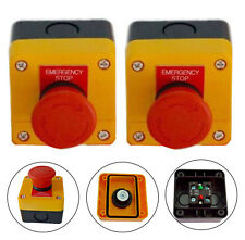 x 2 Emergency Red Stop Safety Button Switch control electrical 12V - 24V E-Stop