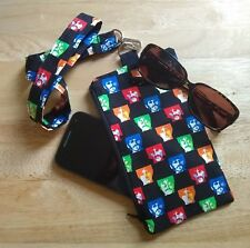 The Beatles Phone Wallet Glasses Pouch with matching neck Lanyard Fab Four