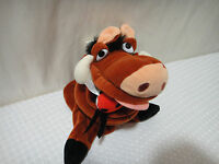 "Disney Lion King Pumba Hand Puppet 10"" Plush"