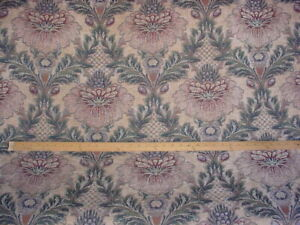 13-3/8Y Kravet 16854 Teal Bromeliad Floral Chenille Damask Upholstery Fabric