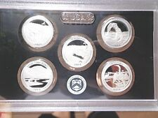 2014 S SILVER Proof America The Beautiful Quarter Set  No Box or Coa
