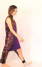 Bohemian Purple Pajamas Dress Gown Anklet Robe Set Xxs-3X