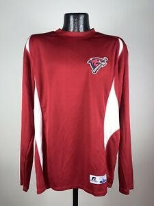Men's MILB Russell Athletic Oklahoma City Redhawks Red Long Sleeve Large NWT