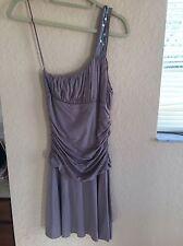 New Free People Cotton Purple Mauve Dress Ruched Soft Slip M NWT