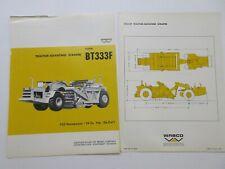 Rare Wabco Bt333f Tractor Elevating Scraper Sales Brochure 1968