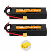 2pcs 7.4V 2S 5200mAh LiPo Battery 50C XT60 Hardcase for RC Car Truck Buggy Drone