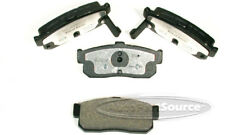 Disc Brake Pad Set-Semi-Metallic Pads Rear Tru Star PPM595