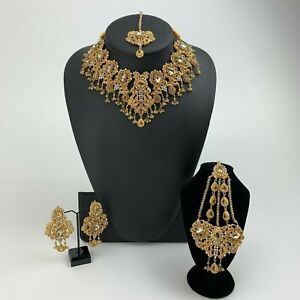 New Indian Pakistani Bollywood Jewellery Necklace Set For Weddings