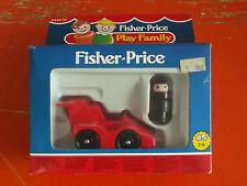 FISHER-PRICE PLAY FAMILY MINI MACCHINA DA CORSA 1987 NUOVO VINTAGE