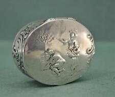 Antique Silver Snuff Box German Hanau Simon Rosenau Bad Kissingen 4 cm