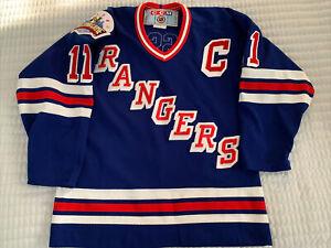 CCM New York Rangers Jersey - Mark Messier w/ 1994 All-Star Patch - Boys SZ L/XL