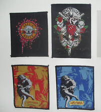 Guns n Roses group patches set Sew On music vintage rare band