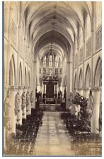 Belgique, Bruxelles Intérieur de la Cathédrale Saints Michel et Gudule Vintage a