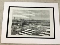 Antique Print Royal Agricultural Society Show Wolverhampton 1871 Victorian Art