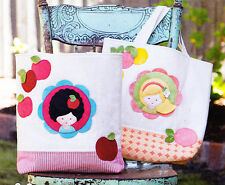 PATTERN - Toffee Apple & Marmadade - kids applique bag PATTERN - May Blossom