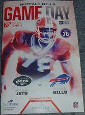 BUFFALO BILLS Gameday Program BRUCE SMITH Jersey Retirement 9/15/16 NY Jets 2016