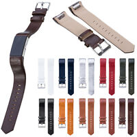 10 Colours Leather Watchband Wrist Band Strap Bracelet For Fitbit Charge 2 Watch