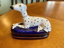 Fitz & Floyd-1979-Staffordshire- Dalmatian Dog-Figurine/Trinket Box-Perfect!