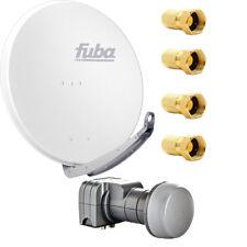 Fuba DAA 780 W SAT Anlage Set 78cm Alu Weiß DEK 217 Twin LNB LNC Kopf HDTV 4K